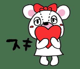 white bear sticker #594079
