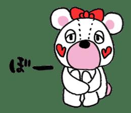 white bear sticker #594080
