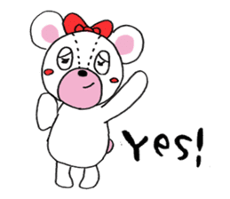 white bear sticker #594082