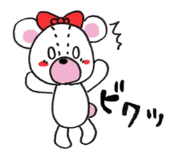 white bear sticker #594085