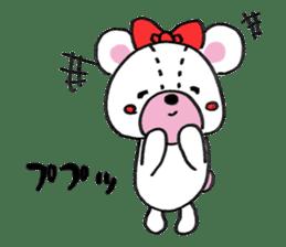 white bear sticker #594087
