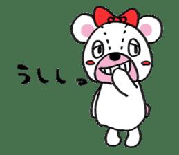 white bear sticker #594091