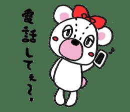 white bear sticker #594092