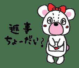 white bear sticker #594093