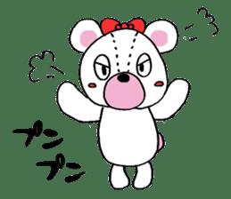 white bear sticker #594094