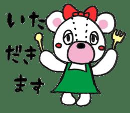 white bear sticker #594096