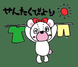 white bear sticker #594098