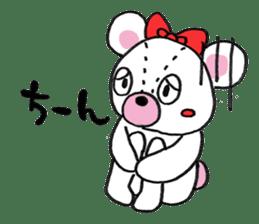 white bear sticker #594099