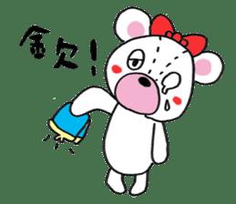 white bear sticker #594103