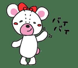 white bear sticker #594111