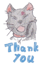 Pencil handwriting cat sticker #599004