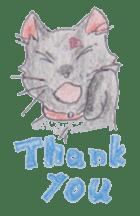 Pencil handwriting cat sticker #599004