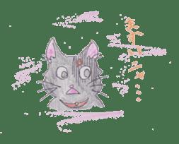 Pencil handwriting cat sticker #599010