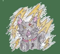 Pencil handwriting cat sticker #599019