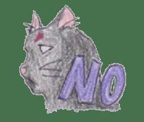 Pencil handwriting cat sticker #599023