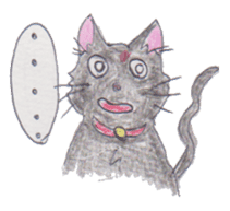 Pencil handwriting cat sticker #599038
