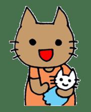 maternity stamp cat sticker #599402