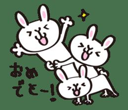 Birthday celebration stamp of rabbit sticker #600203
