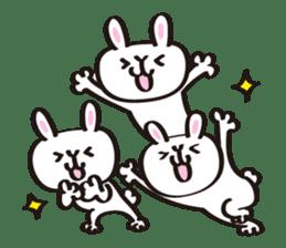 Birthday celebration stamp of rabbit sticker #600204