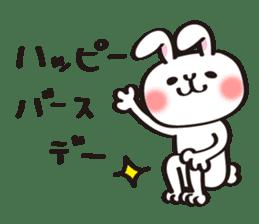 Birthday celebration stamp of rabbit sticker #600205