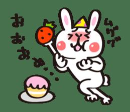Birthday celebration stamp of rabbit sticker #600206