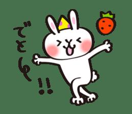 Birthday celebration stamp of rabbit sticker #600207