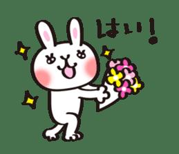 Birthday celebration stamp of rabbit sticker #600209