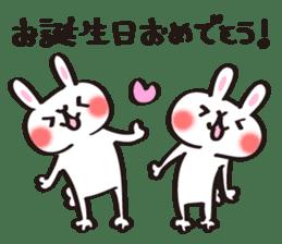 Birthday celebration stamp of rabbit sticker #600210