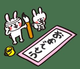 Birthday celebration stamp of rabbit sticker #600211