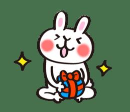 Birthday celebration stamp of rabbit sticker #600215