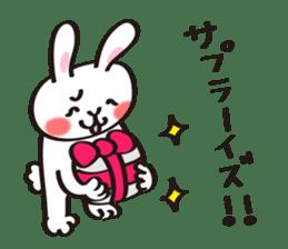 Birthday celebration stamp of rabbit sticker #600216