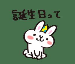 Birthday celebration stamp of rabbit sticker #600223