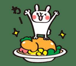 Birthday celebration stamp of rabbit sticker #600226