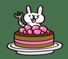Birthday celebration stamp of rabbit sticker #600227