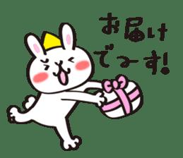 Birthday celebration stamp of rabbit sticker #600229