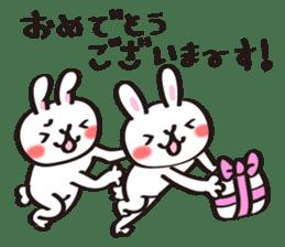 Birthday celebration stamp of rabbit sticker #600231