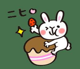 Birthday celebration stamp of rabbit sticker #600233