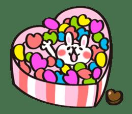 Birthday celebration stamp of rabbit sticker #600235