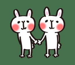 Birthday celebration stamp of rabbit sticker #600236