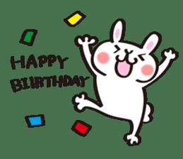 Birthday celebration stamp of rabbit sticker #600238