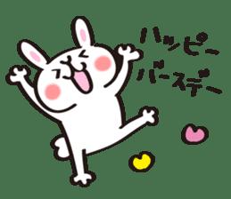 Birthday celebration stamp of rabbit sticker #600240