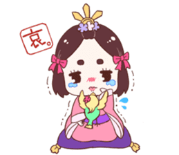 Okame and Parakeet sticker #601396