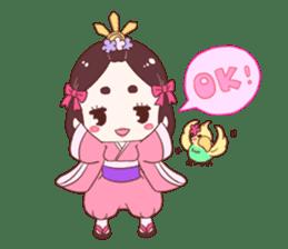 Okame and Parakeet sticker #601399