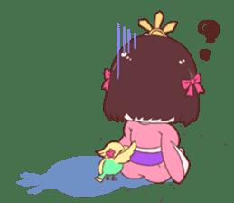 Okame and Parakeet sticker #601404