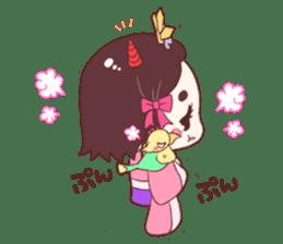 Okame and Parakeet sticker #601408