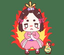 Okame and Parakeet sticker #601409