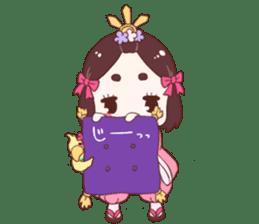 Okame and Parakeet sticker #601411