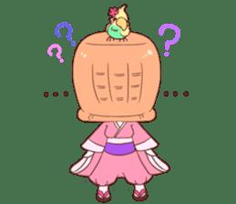 Okame and Parakeet sticker #601413