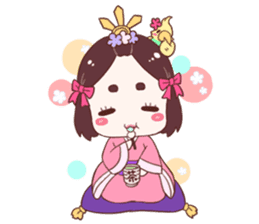 Okame and Parakeet sticker #601420
