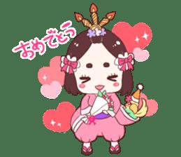 Okame and Parakeet sticker #601423